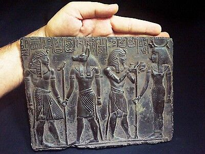 EGYPTIAN ANTIQUES ANTIQUITIES Bearing Gifts for Isis Stela Relief 1211-1276 BC