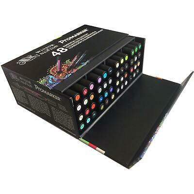 Winsor & Newton ProMarker or Brushmarker 48 Essential Colour Collection Box Set