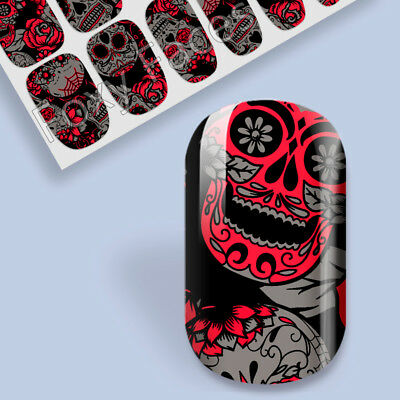 Gothic Nail Art Foils Wrap Stickers Self Adhesive Decals Transfers Manicure