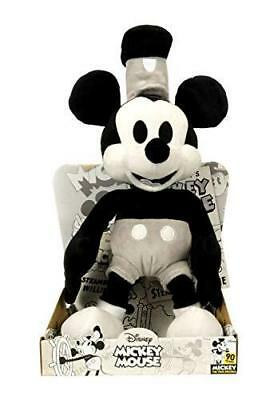NEW Official Disney Mickey Mouse 90th Birthday 36cm Steamboat Willie