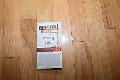 Nice 1976 Lincoln Electric Stick Electrode Welding Guide Vintage Manual Used
