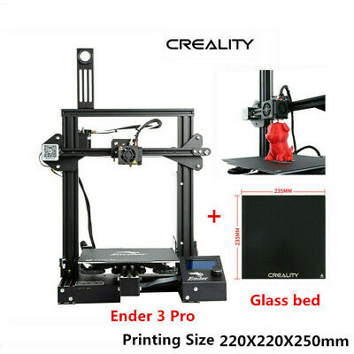 Creality Ender 3 Pro 3D Drucker Printer 220x220x250mm MeanWell Power + Glas Bett