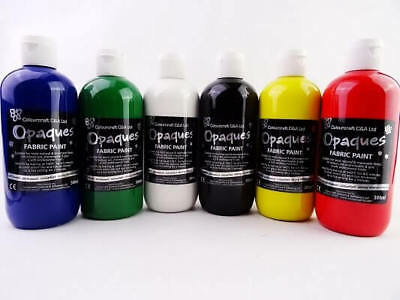 Fabric Paint (Soft Handle) Assorted Pack Of 6 x 150ml
