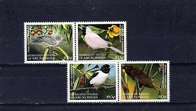 MICRONESIA Birds issue of 4 in joined pairs MINT hinged