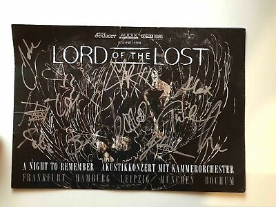 Lord of the Lost signiertes Programmheft A Night to Remember Tour