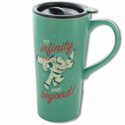 "Toy Story Tall Ceramic ""To infinity and beyond"" Travel Mug Great for inspiration"