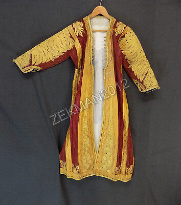 Antique Traditional Folk Albanian Woman's Costume Upper Dress - Metal Embroidery
