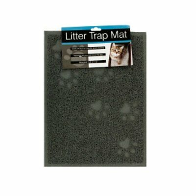 Non-Slip Backing Cat Litter Trap Catcher Non Toxic Rubberized Pet Mat