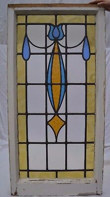 British leaded light stained glass window panel. R682. WORLDWIDE DELIVERY!!!