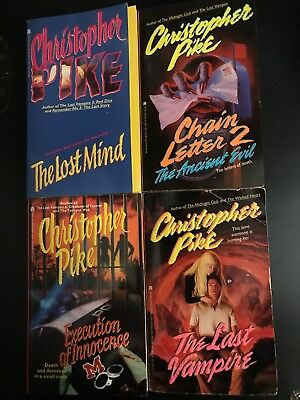 Lot Of 4 Christopher Pike Teen Horror Books 1990s Horror 7 90
