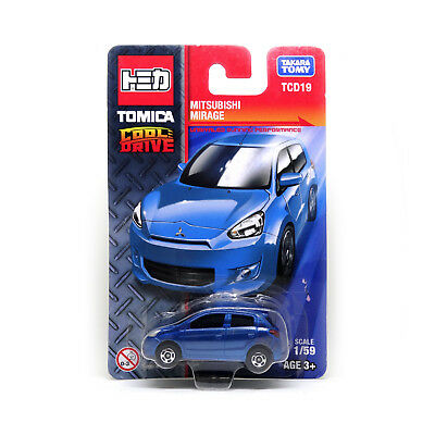 Tomica Cool Drive Mitsubishi Mirage 1/59 Scale Model Car Tcd19 Blue Tomy