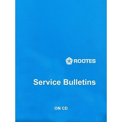 Rootes Service Bulletins 1966, 1967 & 1968