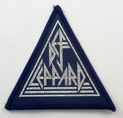 DEF LEPPARD 'Logo' Vintage Sew-on Woven Patch * Metal *