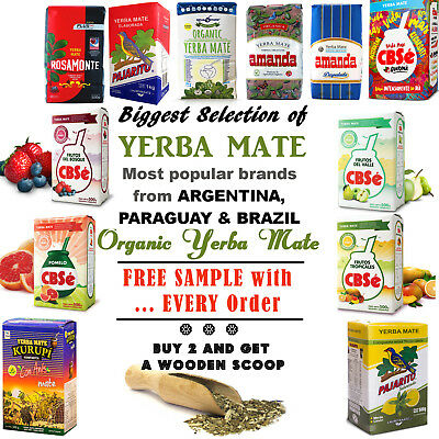 YERBA MATE TEA CBSe, Pajarito, Amanda, Kurupi, Herbal, Guarana, Energy Booster