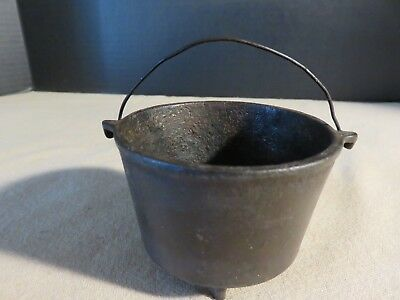 Vintage Antique Primitive Mini Black Cast Iron Stove Melting Stove Pot Pan