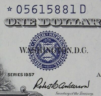 $1 1957 STAR *D GEM Silver Certificate *05615881D KEY Plain Series, FREE SHIP.