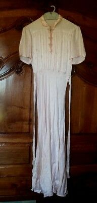 Superb nightdress silk softcover / paperback and lace 1900