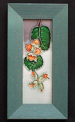 Jugendstil/Art Nouveau Fliese/Tile/Tegel/Carreau Bankel gerahmt