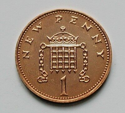 1979 UK (British) Coin - 1 New Penny - UNC - toned-lustre (from mint set)