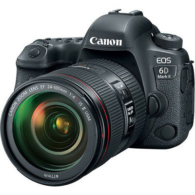 BRAND NEW Canon EOS 6D Mark II DSLR Camera with EF 24-105mm f/4L IS II USM Lens