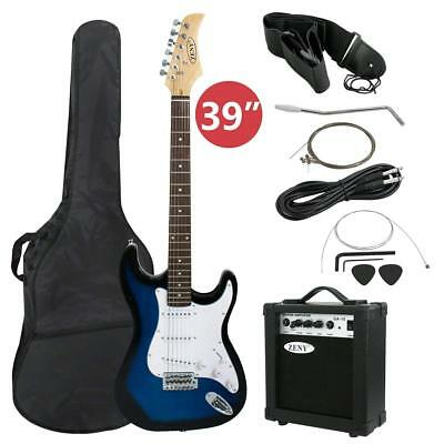 "39"" Full Size Electric Guitar w/ Amplifier Case Accessories Beginner Starter Kit"