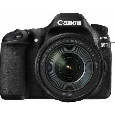 BRAND NEW Canon EOS 80D DSLR Camera with 18-135mm Lens BRAND NEW