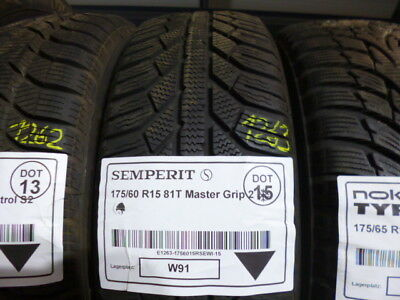 1x Winterreifen SEMPERIT 175/60 R15 81T Master Grip 2 DOT15 - 6mm