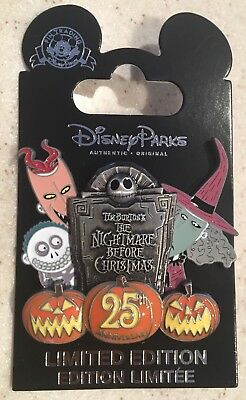 Disney Cast Exclusive 25th Anniversary Nightmare Before Christmas Pin Halloween