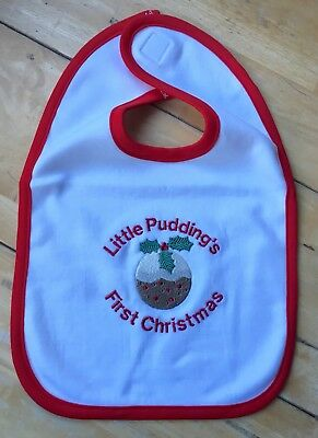Wholesale Job Lot 70 x Baby Bib - Little Pudding's First Christmas