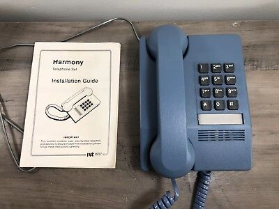 Vintage Blue HARMONY Touch Tone Push Button TELEPHONE By Northern Telecom