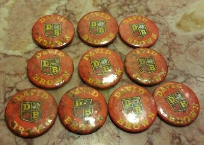 10 Vintage David Brown Tractors Pins Pinback Button Farm  Agriculture