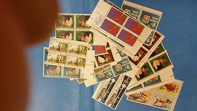 100 Eight (8)  Cent  Stamps - 25 assorted blocks of 4  FMV $8.00