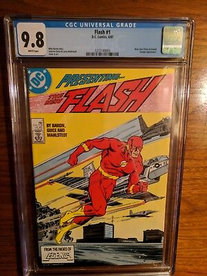 Cgc 9.8 Flash #1 1St Issue! ***white Pages*** Copper Age 1987