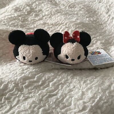 Tsum Tsum Mini Plush Mickey Mouse and Minnie Mouse With Tags Disney