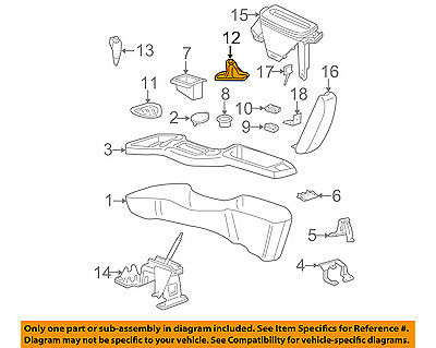 chevrolet gm oem 00-05 cavalier console-shift boot 22630142