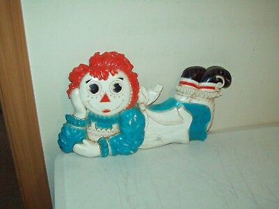 Vintage Syroco Raggedy Ann Children's wall decor collectible Bobbs Merrill 1977