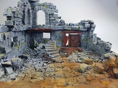 Handmade pro painted wargame scenery ruin house warhammer age of sigmar T9A