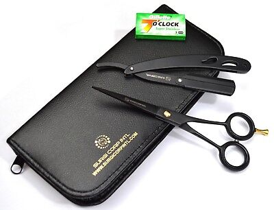 """6"""" Professional Hairdressing Scissors Barber Salon Haircutting Shear with Razor"""