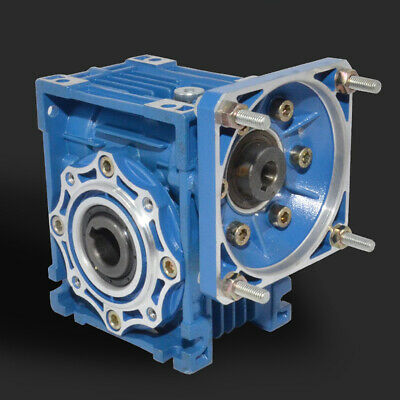 NMRV-040 Worm Gear Speed Reducer 63B14 Gearbox 1:5 - 1:80 Ratio Gear Box