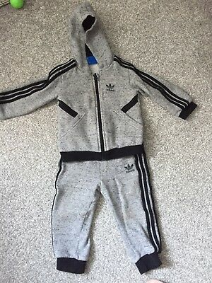 Baby Boys Adidas Tracksuit Age 12-18 Months