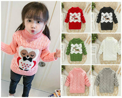 1pc Toddler infant baby boys girls tops warm winter sweater woollen sweater