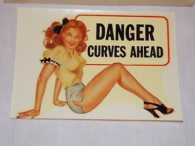 Tourist Travel Decal Sticker Pretty Girl Risque Humour Vintage Ca 1965 & BONUS!