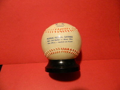 1956-57 Era Cleveland Indians Plastic Baseball Bank Peoples Federal Saving Nice