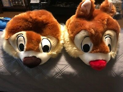 Disney Parks Plush Chip And Dale! Youth Size Adjustable Hats! Halloween! Costume