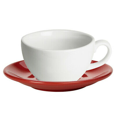 Coffee Cups Royal Genware Bowl Shaped Cup Red 6oz 170ml Porcelain Cups