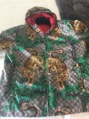 80f9cdf70 MEN'S AUTHENTIC GUCCI Bengal Tiger Print Jacket Size 54/US XL ...