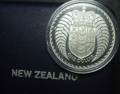 New Zealand 1979 Silver Fern silver Proof $1 coin (.8oz)
