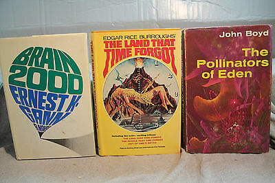 Lot Vtg Ans Science-Fiction le Pollinators de Eden Cerveau 2000 Land Time Forgot