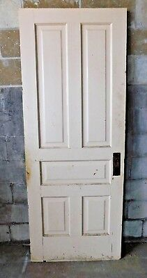Antique Victorian Interior Five Panel Door - C. 1890 Fir Architectural Salvage