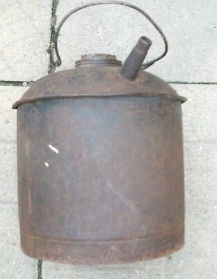 Antique Eagle Oil Can Large Orig Bail And Spigot 10 In Tall And  Wide Vint Gas